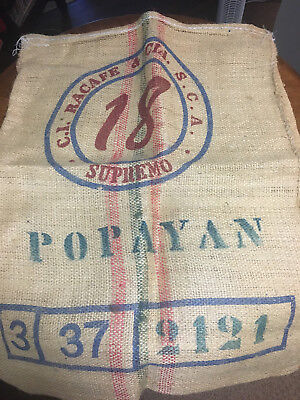 C.i. Racafe Burlap Coffee Sack Popayan Columbia Empty 37X28 Arts And Crafts