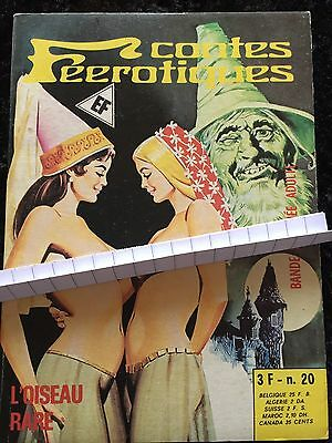 Elvifrance L'oiseau Rare Issue 20 Comic Book 1978 Adult R18 VeryF+ French Horror