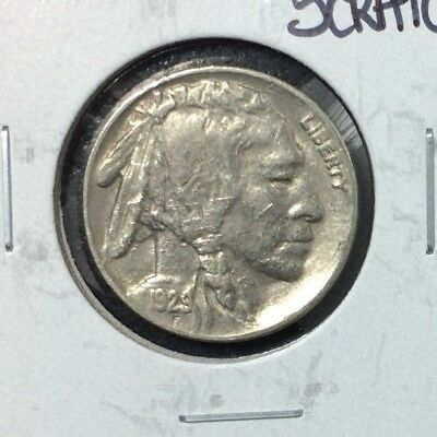 """1929-S Buffalo Nickel ~ Au Details """"scratched"""""""
