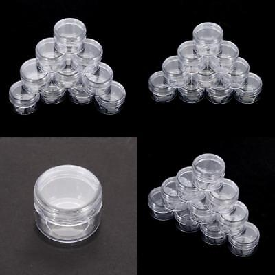 Nail Art Equipment Box Storage Bottle Rhinestone Plastic Empty Case Pot 10 PCs