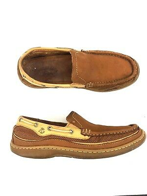 76a4b397b7c4 Tommy Bahama First Mate Men Suede Slip On Boat Shoes Loafers Brown Sz 8.5M  TB383