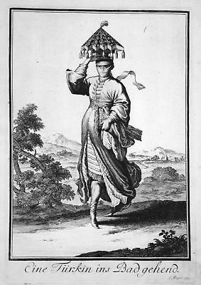 1703 Türkei Turkey Trachten costumes woman Kupferstich antique print Sta Clara