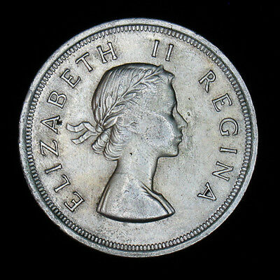 1953 South Africa 5 Shillings silver coin high grade