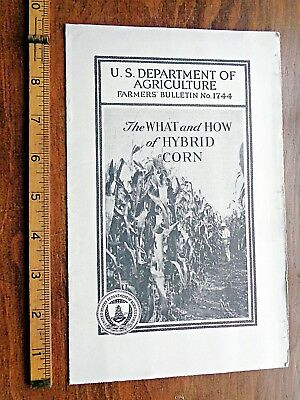 1939 USDA FARMERS BULLETIN #1744 WHAT & HOW OF HYBRID CORN growers FRESH FIND