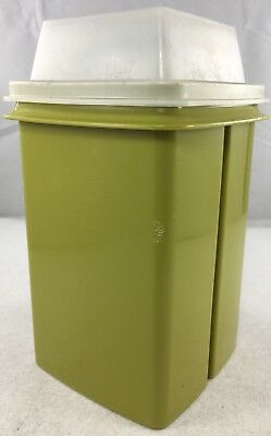 Vintage TUPPERWARE Pick A Deli Pickle/Olive Keeper Container 3 Pc Avocado 1330-1