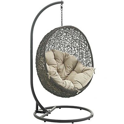 Hide Outdoor Patio Swing Chair With Stand Stand Alone Swing