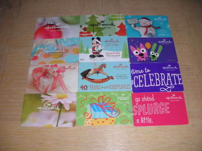 Hallmark   12 different new collectible gift cards