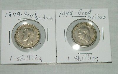 1948 & 1949 Great Britain Shillings