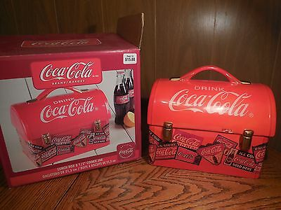 Coca-Cola Ceramic Lunch Box Cookie Jar by Gibson