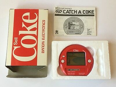 Bandai Catch-A-Coke LCD Game Watch Coca-Cola Mint In Box