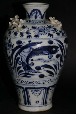 Very Beautiful Early Looking Chinese Ming Style Fish Vase - Very Rare - L@@k