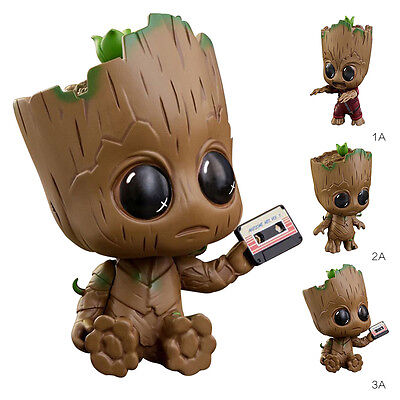 Cute Guardians of The Galaxy Vol. 2 Baby Groot Figure Brush Pot Flowerpot Toys