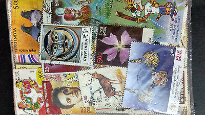 INDIA  USED STAMPS COMPOSITION AROUND 500 ALL DIFFERENT MANY TOPICS   m1