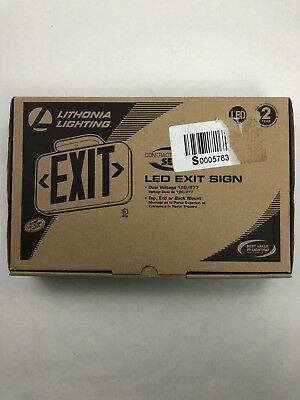 Lithonia Lighting Thermoplastic White LED Emergency Exit Sign # EXR LED M6
