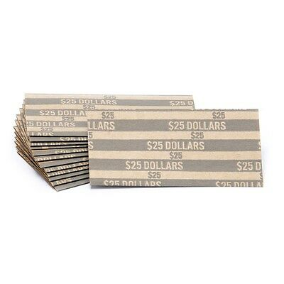 (40 ) FLAT SMALL DOLLARS COIN WRAPPERS. Shipped First Class Mail