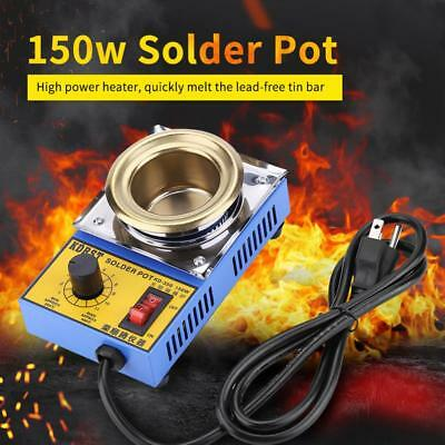 110V/220V 150W Lead-free Solder Pot Soldering Desoldering Bath 50mm 200-450℃ New