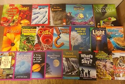 Lot of 20 Science Nature Experiment Geographic Animal Educate Children Book U75