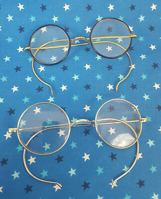 Vintage Spectacles 2 Pair 12K GOLD FILLED & Gold Tone Eye Glasses