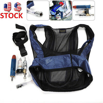 Air-Compressed Cooling Vest Vortex Tube Air Conditioner Waistcoat Welding New US