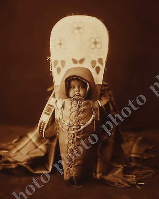 Historic Native American Indian Photo 1800's Nez Perce Tribe Child Infant Baby