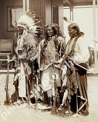 Historic Native American Indian Photo Late 1800's Cheyenne Men Little Wolf