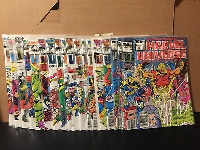 Official Handbook Of The Marvel Universe Deluxe Edition 1-15 17-20 NM High Grade