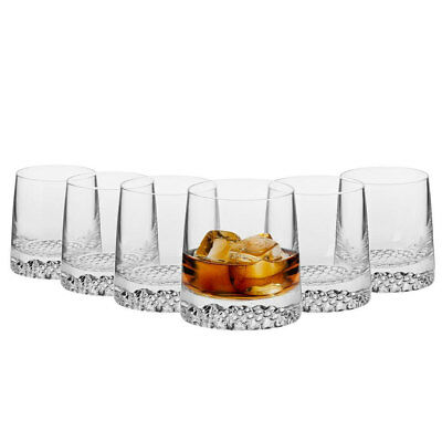 6PC Krosno Tetra 300ml Whisky/Rum/Scotch/Liquor Tumblers Glasses/Drinking Set
