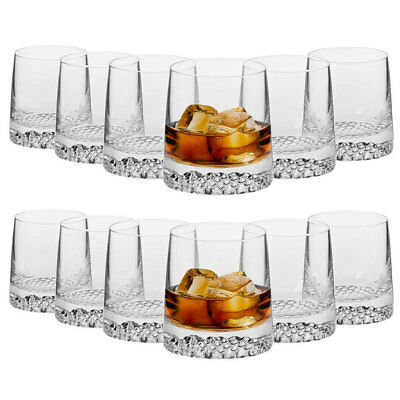 12PC Krosno Tetra 300ml Whisky/Rum/Scotch/Liquor Tumblers Glasses/Drinking Set