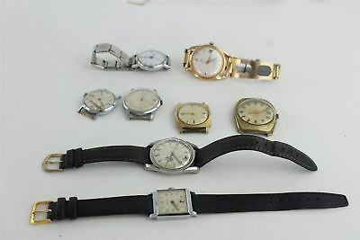 Lot of 8 x Vintage Gents Hand-wind / Automatic Wristwatches for SPARES 248g