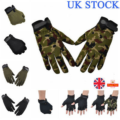 UK Mens Bicycle Anti-Slip Silicon Half Finger Gloves Outdoor Riding Bike Sports
