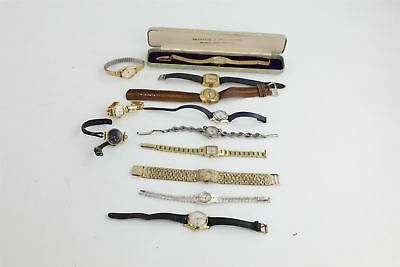 Lot of x Vintage 12 Ladies Hand-wind Wristwatches WORKING inc Boxed Montine 416g