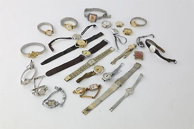 Lot of 25 x Vintage Ladies Hand-Wind Wristwatches for SPARES inc Timex 493g