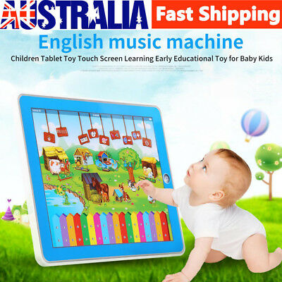 Early Learring Kids LED Tablet Pad Educational Toy Fun Xmas Gift For Girls Boys