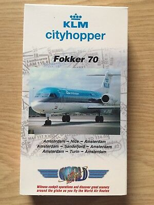 World Air Routes Flight In The Cockpit VHS KLM Cityhopper Fokker 70 vuelo cabina