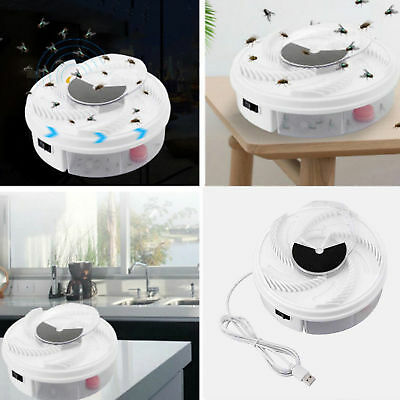 Electric Fly Trap Device with Trapping Food White USB Cable US Insect Killer US