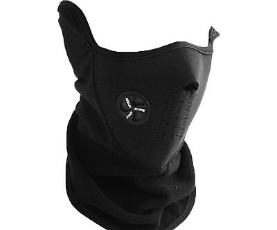 2 x Snowboard Motorcycle Bike Wind Proof Face Neck Warmer Mask Black W2D EH