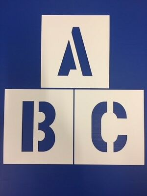 BIG ALPHABET STENCIL LETTERS OR NUMBERS 150mm HIGH (6 inch) separate stencils