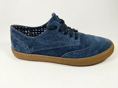 Next boys blue nubuck leather brogue trainers shoes uk 5 hardly worn