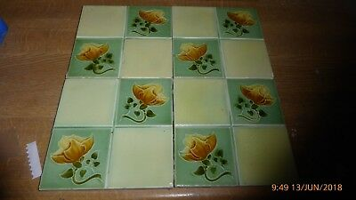 4 Art  Nouveau  Tiles By  Rhodes Tile  Co
