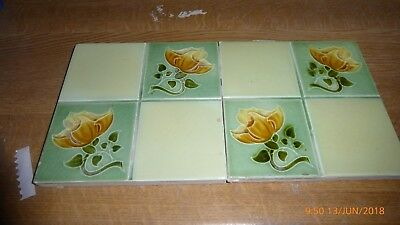 2 Art  Nouveau  Tiles By  Rhodes Tile  Co