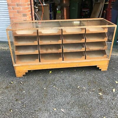 GENUINE VINTAGE  OAK HABERDASHERY/JEWELLERY COUNTER, by DUDLEY & CO. LONDON