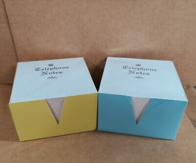 2 X PAPER  MEMO / OFFICE CUBE NOTES/JOTTER BLOCK  2 x 500 WHITE LOOSE SHEETS