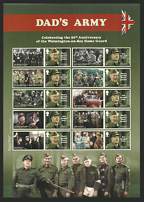 Gb 2018 Pre Issue Dads Army Films Tv Military Comedy Collectors Sheet Mnh