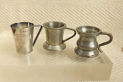 Antique & Vintage Silver Plated & Pewter Measures Bonzer, Harry Mason, Gaskell