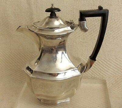"Vintage Georgian EPNS Silver Plated Teapot Coffee pot Stylish Design 8"" tall"