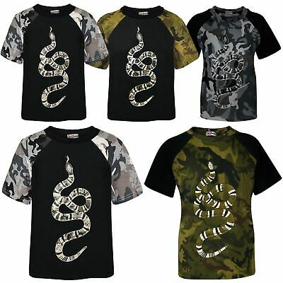 Kids Boys T Shirts Designer's 100% Cotton Snake Print T-Shirt New Age 5-13 Years