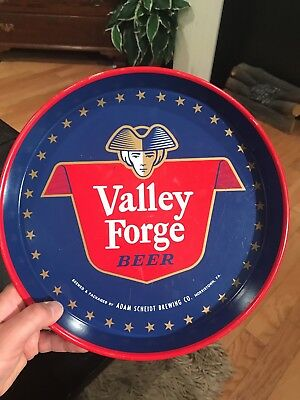 Vintage Valley Forge Beer Metal Tray Adam Scheidt Brewing Co. Norristown, Pa.