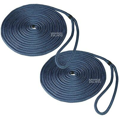 Mooring Ropes Warps Boat Lines Yacht Sailing Dock - Spliced at One End - BRAIDED