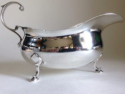 Solid Silver Harrods Of London Gravy Or Sauce Boat