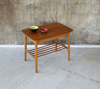 60er TEAK BEISTELLTISCH MID-CENTURY DANISH 60s SIDE TABLE VINTAGE SOFA TABLE